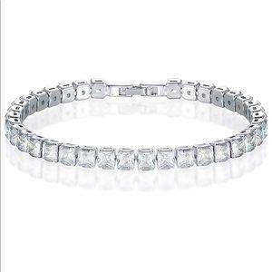 New Friendship Tennis Bracelet 18K White Gold P